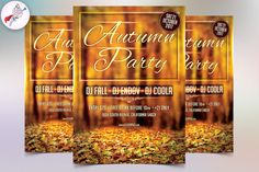 Autumn Party Flyer Template @creativework247
