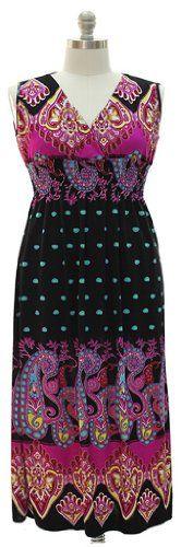 PLUS SIZE MAXI PAISLEY SURPLICE DRESS - List price: $49.99 Price: $19.49