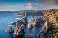 The imposing sea stacks located on the west coast of the Isle of Lewis near Mangersta    Michael Blanchette Photography