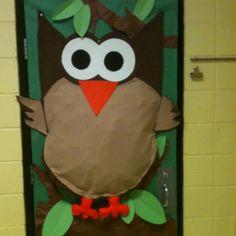 Owl on classroom door!