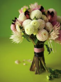 This is the exact bouquet I shared with my florist for my wedding. Did it end up looking like this? Nope. She mistook dahlia's for mums. Fail.
