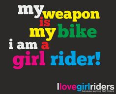 I Love Girl Riders is a celebration of GIRLS doing what they like: riding!!!. Our Mission: Give More IMPORTANCE to 'Girl Riders' We want to unite people, bikers and above all 'Girl Riders' in the world and spread the riding fever! The percentage of girl bikers ranges between 10% t