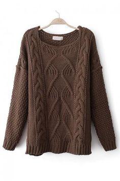 Vintage knitting twist sweater