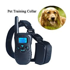 100% MONEY BACK GUARANTEE! IF YOU ARE NOT SATISFIED WITH THE DOG COLLAR. With 4 modes to choose to train your dog: static shock mode, vibration mode, beep mode and light mode, with adjustable levels of vibration and electrostatic shock, a proper level has to be determined when you use this tool for the first time, you are advised to try Level 1-100 graduallyRechargeable and Water-resistant collar receiver and transmitter, you can use it in damp rainy days or drinking, but not swim in the…