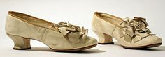 1881___ Slippers, leather, silk. American (probably). MET