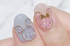 Gorgeous Nails, Pretty Nails, Sun Nails, Square Acrylic Nails, Kawaii Nails, Disney Nails, Cute Nail Art, Bridal Nails, Nail Trends