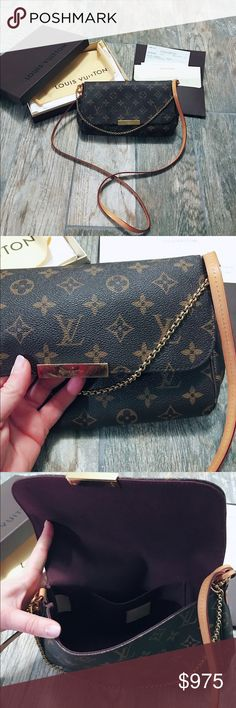 Authentic Louis Vuitton Authentic Louis Vuitton Favorite MM monogram. I have everything that came from the store, box, dust bag, receipt, paper, all. Purchased in March of 16 and carried once. No wear to piping. Only wear at all is some hairline scratching on the clasp that could probably be buffed out. Excellent, like new condition.  The only reason I'm selling is because it's too small for all my junk that I carry. Sorry, but I will not even consider low ball offers and I don't trade…