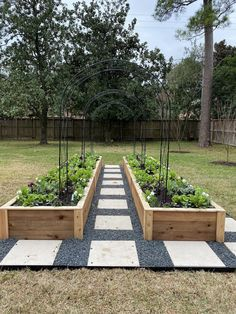 See this beautiful raised garden bed installation from Rooted Garden in Houston. We transformed a backyard space into a productive kitchen garden with cedar raised beds and arch trellises right in the center of the city. Backyard Vegetable Gardens, Veg Garden, Vegetable Garden Design, Backyard Garden Design, Garden Boxes, Backyard Landscaping, Outdoor Gardens, Raised Garden Bed Design, Farm Gardens
