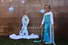 Todo MamayBebes: Frozen - decoraciones de Elsa, Olaf, Anna y castillo de hielo.