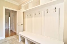Mudroom area in the Summerlake Plan built by Horizon Custom Builders