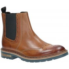 Square punching and straight lines give this wearable Chelsea boot a contemporary look. Tan leather stays mellow while the out-sole is a modern take on the classic commando and adds fresh contrast. The leather and cork mix sock feels great underfoot, helped by a performance Ortholite insole for moisture-wicking comfort. http://www.marshallshoes.co.uk/mens-c1/clarks-mens-dargo-top-tan-formal-ankle-boot-p3134