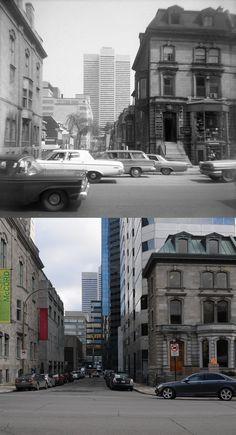 https://flic.kr/p/aWmgcg | 1964-2011 | Une vue de la rue Victoria depuis Sherbrooke.  Source : Guillaume St-Jean, collection particulière