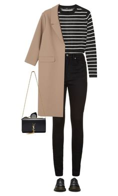 A fashion look from January 2016 featuring TIBI sweaters, Monki coats and Yves Saint Laurent jeans. Browse and shop related looks. Business Casual Outfits For Work, Casual Winter Outfits, Work Casual, Chic Outfits, Winter Looks, Clothes For Women, Trending Outfits, My Style, Polyvore Fashion