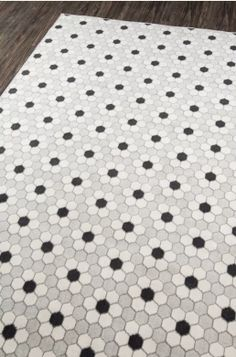 Parramore 3cm Hexagon With Flower Mosaic Traditional