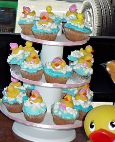 Cupcakes I made for baby shower