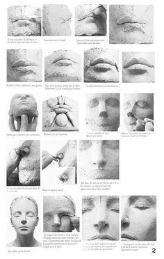 Sculpture Techniques, Sculpture Lessons, Art Techniques, Sculpting Tutorials, Art Tutorials, Pottery Sculpture, Sculpture Clay, Ceramic Sculpture Figurative, Sculptures Céramiques