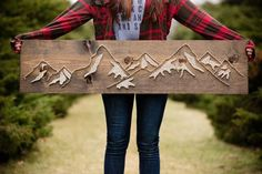 Diy-wooden-mountain-string-art-ideas