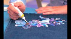 Роспись юбки акриловыми красками