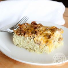 This protein and carb-packed Whole30 breakfast casserole can be prepared ahead of time and enjoyed all week for quick and easy Whole30 breakfasts! | www.allthingsgd.com #Whole30  #allthingsgd #Paleo #Whole30recipes #PaleoRecipes #Whole30breakfast