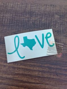 Texas Love Decal  Love Texas Decal  Vinyl Decal  by WestTXDesigns