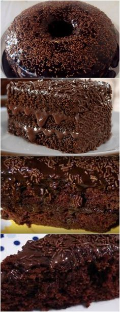 Bolo de Chocolate da Fran – Massa de Chocolate e Cobertura de Chocolate! Sweet Recipes, Cake Recipes, Dessert Recipes, Chocolate Desserts, Love Food, Cupcake Cakes, Food And Drink, Yummy Food, Baking