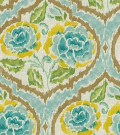 Home Decor Print Fabric-Dena Nadia Green Tea