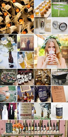I'm nowhere close to getting married, but I love the idea of a Beer Wedding theme!