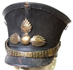 An authentic Russian shako (known as a Kiver) from the Napoleonic Wars.