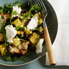 If you love bread, you'll love this salad. Panzanella is a traditional Italian dish that contains chunks of bread and tasty vegetables.  This leafy-green salad is packed with antioxidants.  Olives add a dose of heart-healthy monounsaturated fat. | Health.com
