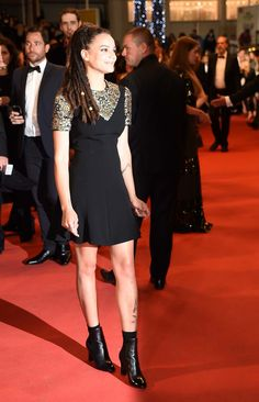 """Sasha Lane in Louis Vuitton  -   US actress Sasha Lane arrives on May 17, 2016 for the screening of the film """"Personal Shopper"""" at the 69th Cannes Film Festival in Cannes, southern France. / AFP / ANNE-CHRISTINE POUJOULAT (Photo credit should read ANNE-CHRISTINE POUJOULAT/AFP/Getty Images) Photo: Getty Images"""
