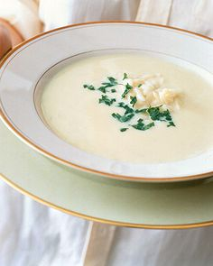 Avgolemono Soup (Greek Egg-Lemon Soup) *Made this tonight (3/19) - except I used the FULL cup of lemon she mentioned at the bottom - came out EXACTLY like the soup at Mykonos in Longwood except w/ Brown Rice instead of Orzo pasta. This made my taste buds SO happy!*