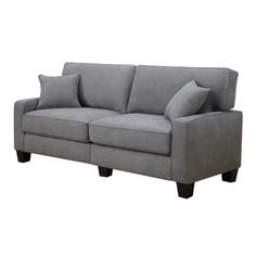 Serta at Home Sofa2Go Martinique Collection 73-inch Kona Grey Fabric Sofa - Overstock™ Shopping - Great Deals on Serta Sofas & Loveseats