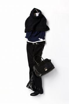 ネイビー×ブラックを堪能する 2012-12-26 | scarf brand : Del Santo | tops brand : H&M…