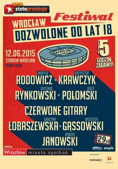 """12 czerwca #koncert """"dozwolone od lat 18"""" na #StadionWroclaw"""