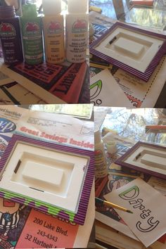 Clean or dirty- get magnetic picture frames and paint them with acrylic paint- add a clean and dirty sign to each frame and then your set! Just switch the signs with each load of dishes to indicate clean/dirty :) Magnetic Picture Frames, Dishwasher Magnet, Barrel, Magnets, Crafty, Dishes, Signs, Diy, Painting