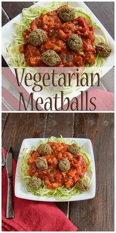 Vegetarian Meatballs - this healthy recipe is full of flavor and easy to make. Gluten free, low fat, vegan and high protein these will even please meat eaters!!  | www.PancakeWarriors.com