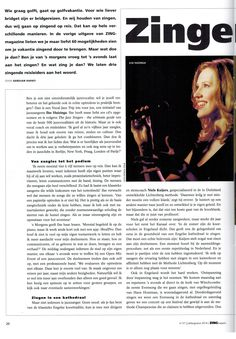 Zingend op reis, met Vocal Jazz Trip. Interview in Zing Magazine, June 2014