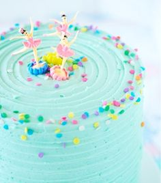 Birthday Medley Layer Cake from Sweetapolita - wait till you see all the different flavoured layers! Ballerina Cakes, Ballerina Birthday, Pretty Cakes, Cute Cakes, Turquoise Cake, Diy Birthday Cake, Little Girl Birthday Cakes, Little Girl Cakes, Birthday Ideas