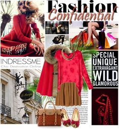 """""""RED COLOR in indressme.com"""" by designsbytraci on Polyvore"""