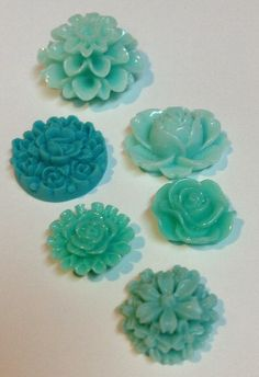 Kitchen Fridge Resin Floral Office Locker magnets