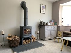 We proudly supply & install some of the greenest woodburning stoves in the world. We install throughout the York, Harrogate and Leeds areas. Wood Burner Fireplace, Home Fireplace, Modern Fireplace, Fireplace Ideas, Fireplaces, Modern Wood Burning Stoves, Modern Stoves, Living Room Modern, Home Living Room