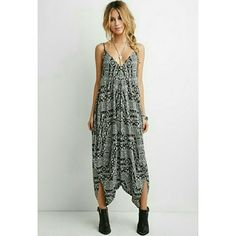 Ornate print harem jumpsuit Funky harem cream and black jumpsuit. Super comfy. NWT Forever 21 Pants Jumpsuits & Rompers
