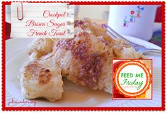 Crockpot Brown Sugar French Toast. Think french toast/monkey bread/caramel ... mmmmm. Add a little syrup and a cup of coffee, and you're in breakfast heaven! (Easy to assemble the night before) http://www.juliesanders.org/ #ComeHaveaPeace