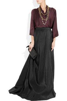 Lanvin  Silk-faille ballroom skirt  http://rstyle.me/e4f7xwb82e