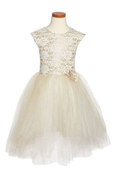 Free shipping and returns on Halabaloo Lace & Glitter Party Dress (Toddler Girls, Little Girls & Big Girls) at Nordstrom.com. A glittery tulle skirt provides an enchanting finish for a festive sleeveless dress fitted with a metallic jacquard and floral lace bodice.