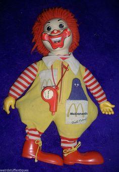 vintage Ronald McDonald plush doll Hasbro original whistle Grimace 1978 rag #Hasbro