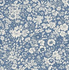 Liberty Quilting Collection Fabric Emily Silhouette Z - Alice Caroline - Liberty fabric, patterns, kits and more - Liberty of London fabric online Liberty Of London Fabric, Liberty Fabric, Liberty Print, Fabric Factory, Cotton Quilting Fabric, Patchwork Quilting, Silhouette, English Roses, English English