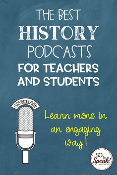Are you a teacher or student of history? These podcasts can make history come alive for you- don't miss out! History Teachers, History Class, Google Classroom, Classroom Ideas, Middle School History, Social Studies Classroom, School Daze, Public Speaking, Teacher Hacks