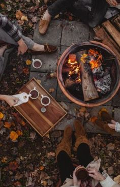 Fall...still time for outdoors, a good fire, and tea