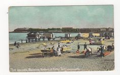 The Sands Bathing Saloon & Nothe Fort Weymouth Vintage Postcard 468a